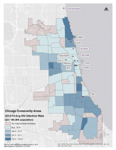 CDPH HIV incidence map - Chicago