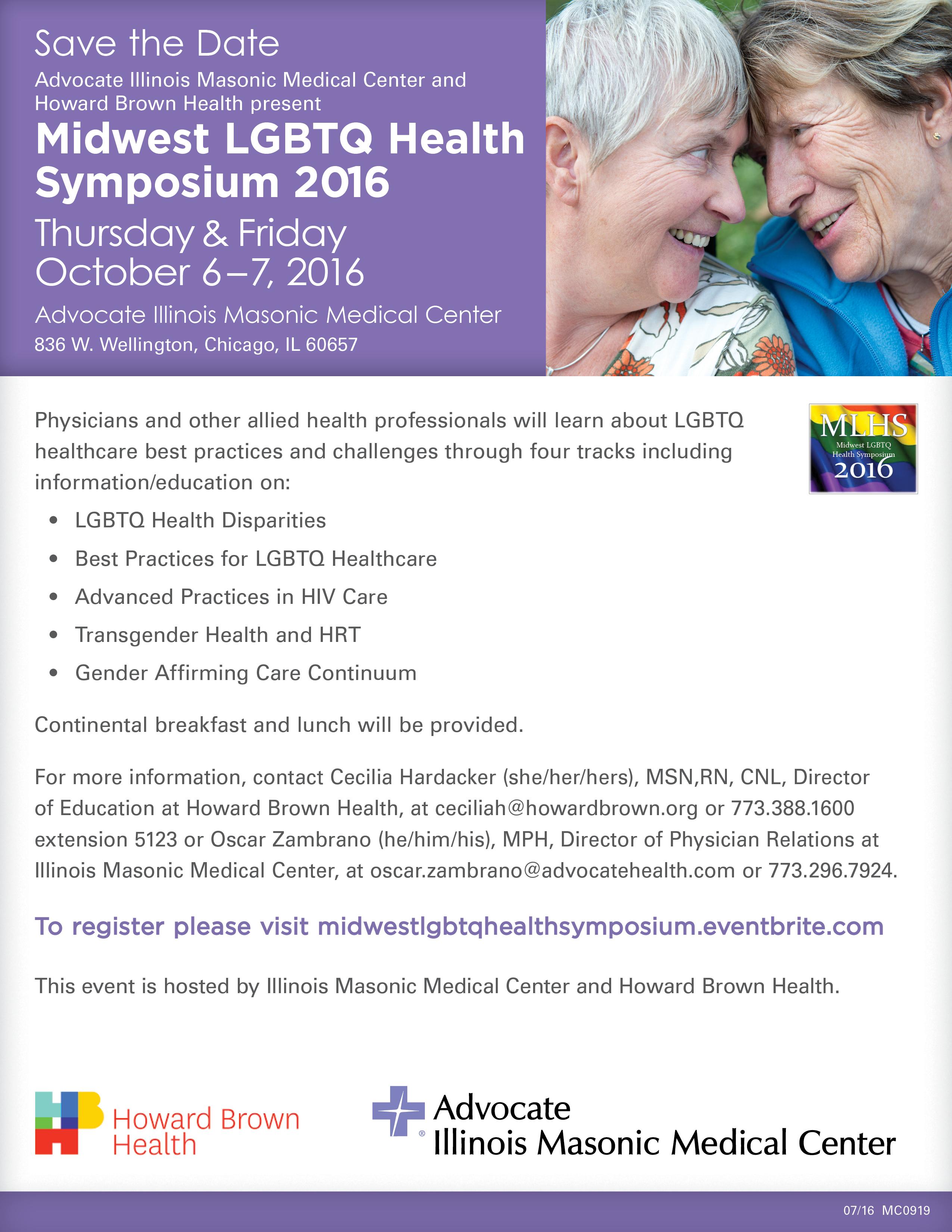 Midwest LGBTQ Health Symposium 2016